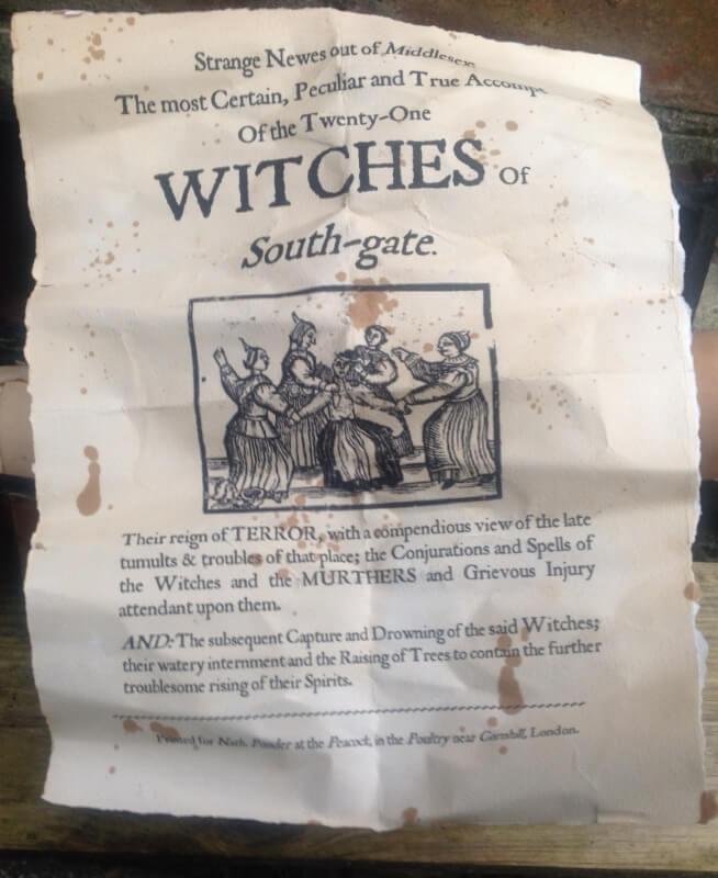 handbill found with scroll